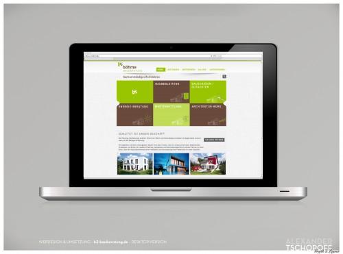 b2 bauberatung-Website